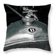 1928 Bentley 4 1/2 Litre Parkward Saloon Throw Pillow