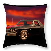 1969 Chevrolet El Camino Ss396 Throw Pillow