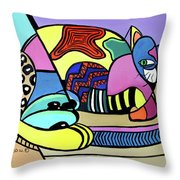 A Cat Named Picasso Throw Pillow by Anthony Falbo
