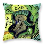 Anubis Throw Pillow