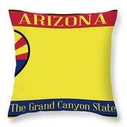 Arizona State License Plate Throw Pillow