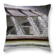 Arthur J. Will Memorial Fountain At Grand Park Throw Pillow