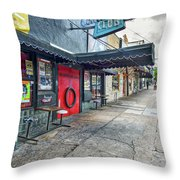 Austin Continental Club  Throw Pillow