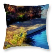 Autumn Colors In Kearney Lake Throw Pillow