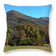 Autumn Colours In Great Smoky Mountains National Park Throw Pillow
