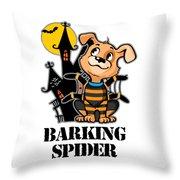 Barking Spider Halloween Design For Dog Lovers Light Throw Pillow