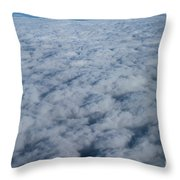 Beautiful Cloudscape High Up In The Sky. Throw Pillow