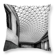 British Museum Throw Pillow by Adrian Evans