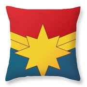 Captain Marvel 2019  Throw Pillow