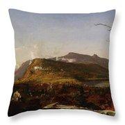 Catskill Mountain House Throw Pillow