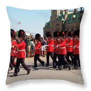 Changing Of The Guard In Ottawa Ontario Canada Throw Pillow