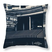 City News - Mansfield, Ohio Throw Pillow