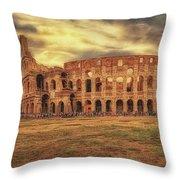 Colosseo, Rome Throw Pillow