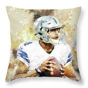 Dallas Cowboys.dak Prescott. Throw Pillow