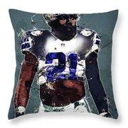 Dallas Cowboys.ezekiel Elliott. Throw Pillow