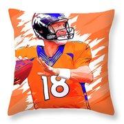 Denver Broncos.peyton Manning. Throw Pillow