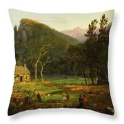 Eagle Cliff, Franconia Notch, New Hampshire Throw Pillow