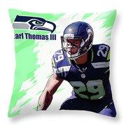 Earl Thomas,seattle Seahawks. Throw Pillow