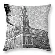 First Baptist Church Columbia Throw Pillow