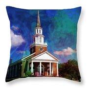 First Baptist Church Myrtle Beach S C Throw Pillow