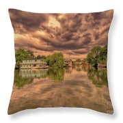 Further Down The River Throw Pillow