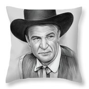 Gary Cooper Throw Pillow