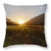 Glen Lyon Sunset Throw Pillow