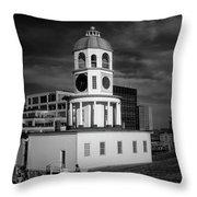 Halifax Town Clock 2017 Black  And White Throw Pillow