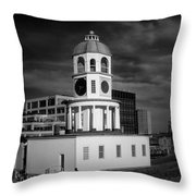 Halifax Town Clock 2017 Black  And White Throw Pillow