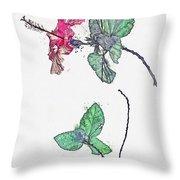 Hibiscus 2 -  Watercolor By Ahmet Asar Throw Pillow