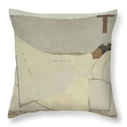 In Bed  Throw Pillow