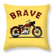 Indian Brave 1951 Throw Pillow by Mark Rogan