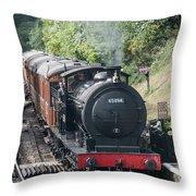 J27 Locomotive 65894 On North York Moors Railway Throw Pillow