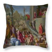 Joseph With Jacob In Egypt  Throw Pillow