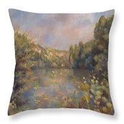 Lakeside Landscape  Throw Pillow