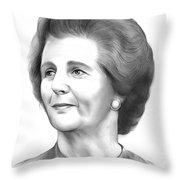Margaret Thatcher Throw Pillow