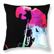 Miles Watercolor Throw Pillow