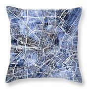Munich Germany City Map Throw Pillow