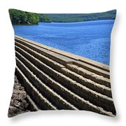 New Croton Dam At Croton On Hudson New York Throw Pillow