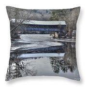 New England College Covered Bridge Throw Pillow
