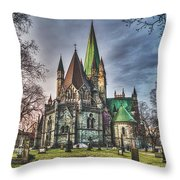 Nidaros Cathedral Throw Pillow