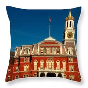 Norwich City Hall Throw Pillow