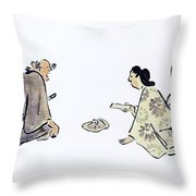 Oil Painting Throw Pillow