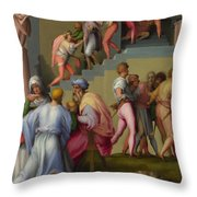 Pharaoh With His Butler And Baker  Throw Pillow