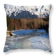 Portage Creek Portage Glacier Highway, Alaska Throw Pillow