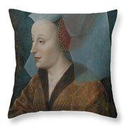 Portrait Of A Noblewoman Throw Pillow
