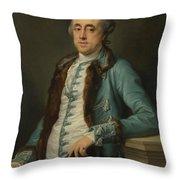 Portrait Of John Scott Of Banks Fee  Throw Pillow