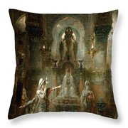Salome Dancing Before Herod Throw Pillow