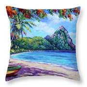 Soufriere Bay St Lucia Throw Pillow