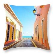 Streets Of San Juan - Puerto Rico Throw Pillow